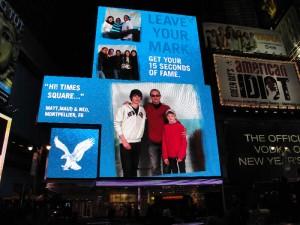Nous sommes affichés à Times square NYC