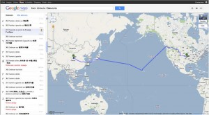 Google Maps Chine Etats-unis en voiture