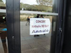 Concert Nathalie Dessay annulé