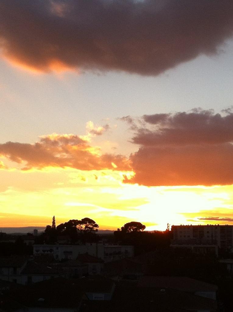 Couché de soleil sur Montpellier