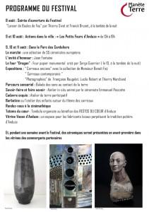 Programme Anduze 2014