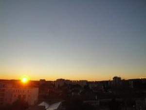 Lever de soleil sur Montpellier le 21 février 2016