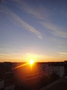 Levé de soleil le 26 mars 2016