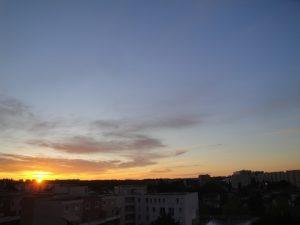 Lever de soleil sur Montpellier le 14 avril 2016