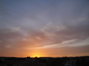 Coucher de soleil du 25 mai 2016