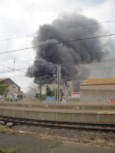 Incendie à la gare d'Agde