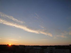 Levé de soleil sur Montpellier le 06 06 2016