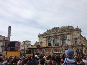 Place de la Comédie, Montpellier : Départ du tour de France 2016