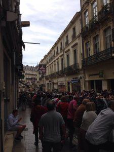 Rue de la loge, Montpellier : Départ du tour de France 2016