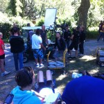 Sur le tournage du film Barbecue