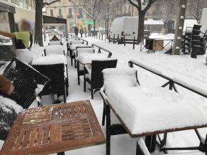 Place des Beaux-Arts sous la neige - 28 février 2018