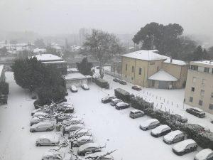 Montpellier sous la neige - 28 février 2018